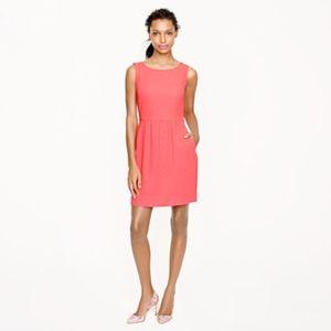J.Crew Camille Dress Neon Pink Sheath Fit